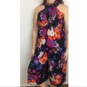 NWT Xhilaration Romper Size 2X Floral Sleeveless